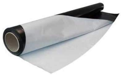 Weedness Schwarz weiß Folie 50 Meter Rolle x 2 Meter Breit - Reflektionsfolie Grow anbau Indoor