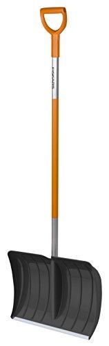 Fiskars Schneeräumer für kleine und große Schneemengen, Blattbreite: 52 cm, Kunststoff-Blatt/Aluminium-Stiel, Schwarz/Orange, SnowXpert, 1003469