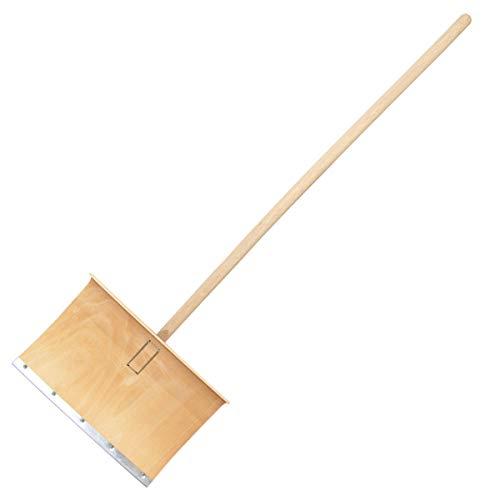 Schneeschaufel/Schneeschieber aus Eschenholz - Stiellänge: 130 cm, Blattbreite: 50 cm, Gewicht: 1.8 kg - handgemacht in Deutschland