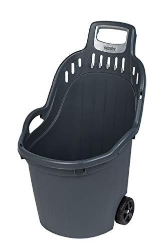 Kreher Gartentrolley HELPY mit 60 Liter Nutzvolumen, belastbar bis max. 65 kg. Räder auf Metallachse. In Grau oder Grün (Grau)