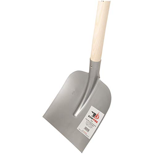 SHW-FIRE 59032 Holsteiner Schaufel Stahl Größe 2 mit Stiel Holzstiel 130 cm lang (Silber)