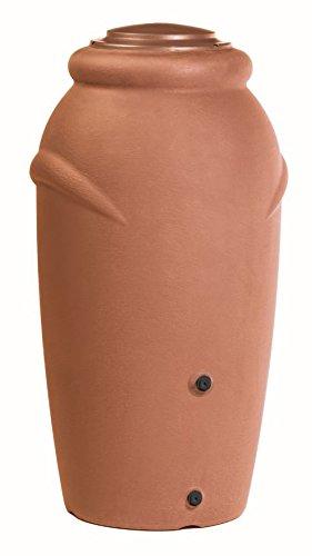 Prosperplast Regentonne Wassertonne Regenfass Wassertank Amphore 210L mit Wasserhahn (Anthrazit)