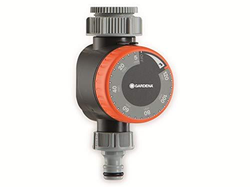 Gardena Bewässerungsuhr: Zeitschaltuhr für Wasserhähne 26.5 mm (G 3/4) oder 33.3 mm (G1), flexible Bewässerungsdauer (5-120 min), leichtes Anschließen dank Schnellstecksystem (1169-20)