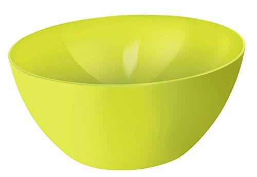 Rotho Caruba große Schüssel 8l, Kunststoff (PP) BPA-frei, grün, 8l (34,0 x 34,0 x 15,0 cm)
