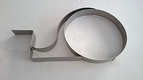 Flexible und perforierte Rasenkanten aus Edelstahl V2A (20x100cm flexibel)