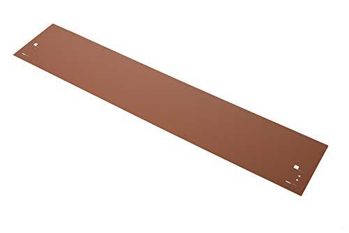 HN Kernstützen Metallwaren Rasenkante, Beeteinfassung und Wegbegrenzung aus Metall in feuerverzinkt 18,5 cm x 1,20 m; 3,45 m; 5,70 m; 11,40 m; 21,60 m, Farbe :Braun, Verlegelänge :19er Set 21.60 m