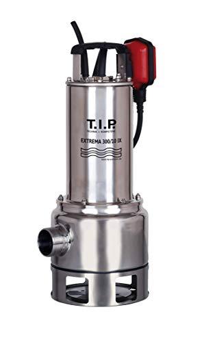 T.I.P. 30072 Schmutzwasser Tauchpumpe Edelstahl Extrema 300/10 Pro mit Edelstahllaufrad, bis 19.500 l/h Fördermenge