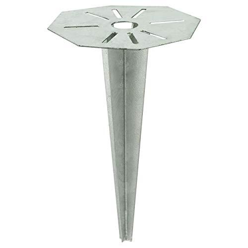 EGLO Outdoor Zubehör Erdspieß Cuba, Material: Stahl, feuerverzinkt, Farbe: Silber