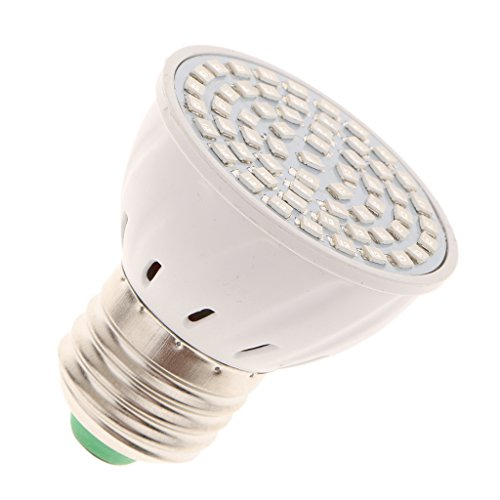 MagiDeal 220V 8W E27 LED Pflanzenlichter Pflanzenlampe Pflanzenleuchte Glühbirne für Garten Pflanzen , Lichtfarbe Rot und Blau - 6W, 55x47mm