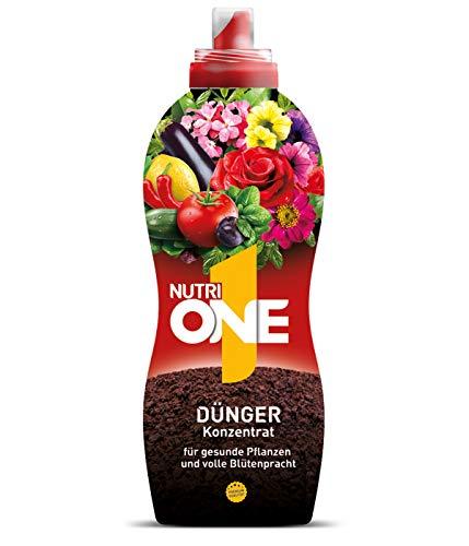 Nutri ONE Universal-Dünger, Flüssigkonzentrat für Topfpflanzen, Balkonpflanzen, Gemüse, Kräuter und Garten, 1 Liter Flüssigdünger