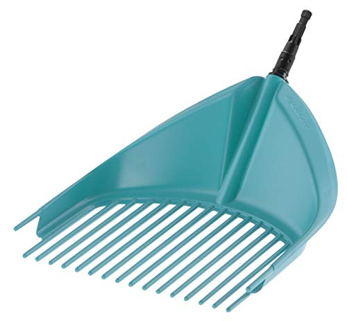 GARDENA combisystem-Schaufel-Rechen: Handlicher Schaufel-Rechen zum Zusammenfegen und Aufheben von Laub und Gartenabfällen, mit robusten Kunststoffzinken, Arbeitsbreite 36.5 cm (3120-20)