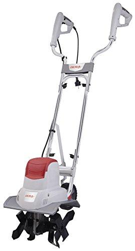 IKRA 70300420 Elektro Bodenhacke Kultivator IEM 800S, Arbeitsbreite 30cm, Arbeitstiefe 20cm, 800 W, 230 V, Grau/Rot/Schwarz