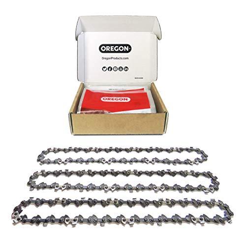 Oregon 3 x Hochentaster-Sägeketten 3/8' Teilung, Treibgliedstärke 1,3 mm (.050'), 40 Antriebsglieder für 25 cm Schnittlänge - passend für alle Marken incl. Bosch, Worx, Einhell und andere Marken