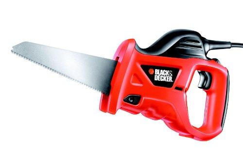 Black+Decker 400W Universal-Säbelsäge KS880EC (zum Sägen von Holz, Metall oder Kunststoff, inkl. Holzsägeblatt (239mm))