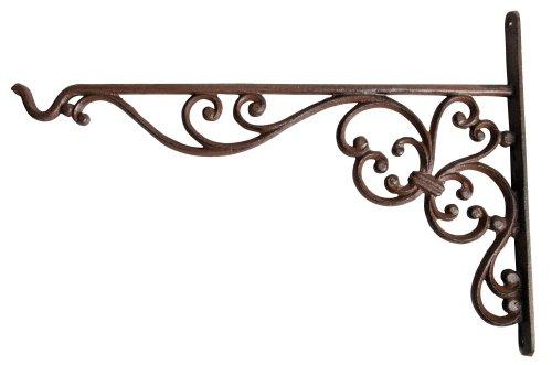 Esschert Design Haken für Hanging Basket, Wandhalterung für Hängekörbe, Befestigung für Hängeampeln, groß, ca. 35 cm