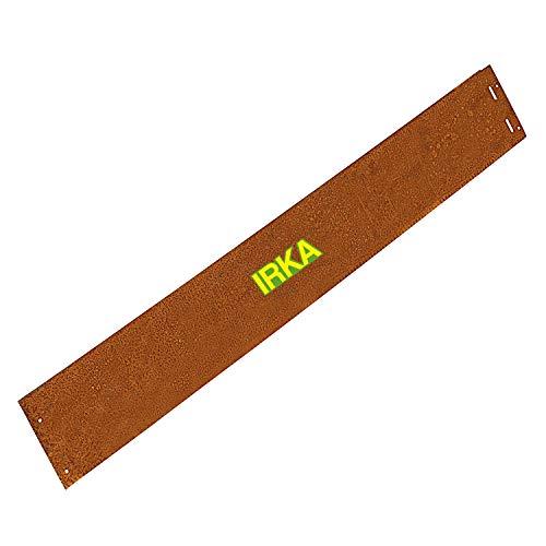 IRKA Rasenkante Cortenstahl Garten 14 cm x 100 cm x 1mm | Cortenstahl stabile Mähkante | Flexible Beeteinfassung Rost Metall | Rasenkanten aus Cortenstahl