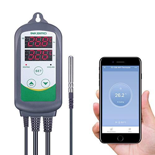 Inkbird ITC-308-WIFI Thermostat,Heizen Kühlen Steckdose Temperaturregler Fernsteuerung per App