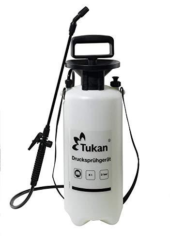TUKAN Drucksprüher 5 Liter   Gartenspritze/Sprühgerät für den Pflanzenschutz   5 L Füllinhalt   Verstellbare Düse