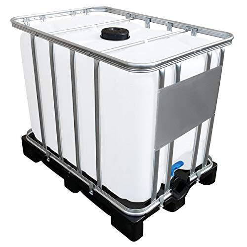 Werit 600l IBC Container auf PE-Palette NEU Deckelgröße DN 150, Armaturgröße S60x6 Grobgewinde