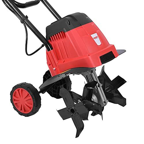 HECHT Elektro Gartenhacke (NEU) für optimale Bodenbearbeitung – 16 Messer - elektrische Bodenhacke – Gartenfräse – Kultivator – umgraben und lockern von Erde für perfekte Pflanzen und Rasen