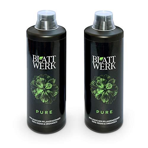 2x 1L BLATTWERK Pure Bio Universaldünger, veganer organischer NPK Flüssig-Dünger