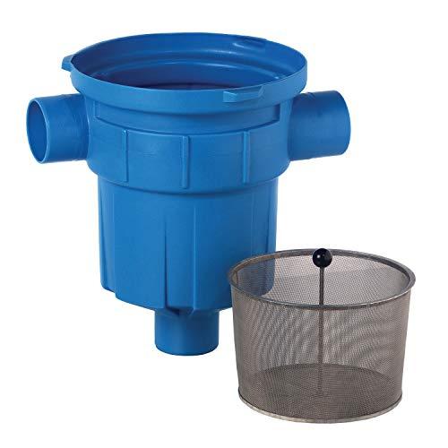 Regenwasserfilter Zisternenfilter 3P Retentions- und Versickerungsfilter mit Edelstahlsieb für den Einbau in die Zisterne, Anschluss DN100. Für die Regenwassernutzung im Haus und zur Gartenbewässerung