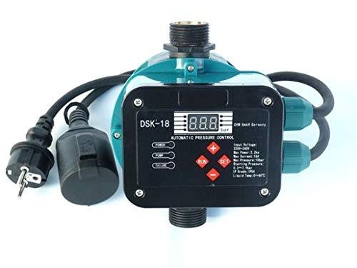 CHM GmbH Digitale vollautomatische Pumpensteuerung für Pumpen bis 2,2 KW, Einschalt Druck 0,3-7,9 Bar einstellbar