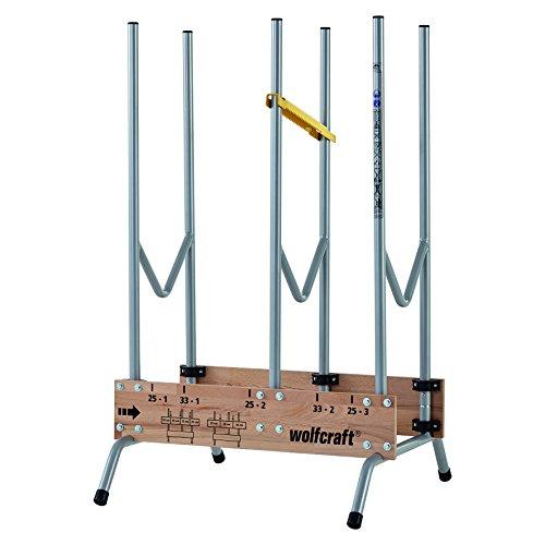 wolfcraft 1 Sägebock 5121000 - zusammenklappbar | Robuster und stabiler Holzbock zum schnellen Zuschneiden von Brennholz - inkl. Auswurfsicherung | Tragkraft: 150 kg