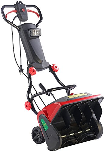 AGT Handschneefräse: Elektrische Schneefräse mit LED-Beleuchtung SB-213.e, 1.300 W (Elektro Schneeschaufel)