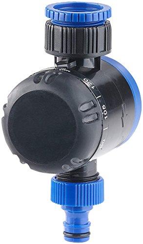Royal Gardineer Wasserzeitschaltuhr: Mechanische Bewässerungs-Schaltuhr, bis 120 Min, 3/4'-Gewinde (Bewässerungszeitschaltuhr)