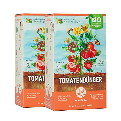 Plantura Bio Tomatendünger mit 3 Monaten Langzeit-Wirkung, 3 kg, für eine aromatische & reiche Tomatenernte, biologisch, unbedenklich für Haus- & Gartentiere, für Balkon und Garten, Tomaten Dünger