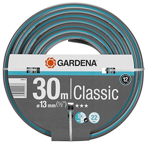 Gardena Classic Schlauch 13 mm (1/2 Zoll), 30 m: Universeller Gartenschlauch aus robustem Kreuzgewebe, 22 bar Berstdruck, druck- und UV-beständig (18009-20)
