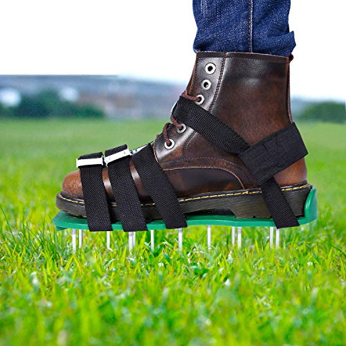 EEIEER Rasenbelüfter Rasenlüfter Vertikutierer Rasen Vertikutierer Rasen Nagelschuhe für Dein Rasen oder Hof