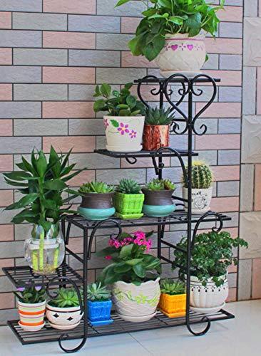 MUZIDP Blumenregal,Display lagerregal,Eisen Pflanze-ständer Blumentopf Für Indoor Balkontür Schlafzimmer Wohnzimmer-F 68x23x85cm(27x9x33inch)