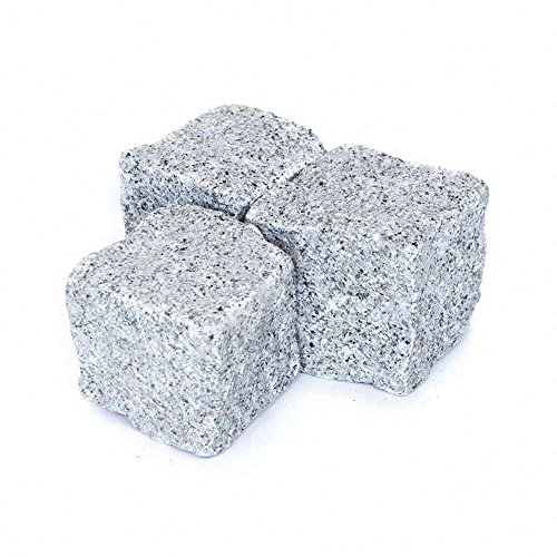 Kopfsteinpflaster Granit Hellgrau, Granitpflaster hellgrau, Pflastersteine Granit hellgrau, in 1000kg Big Bag oder Holzkiste