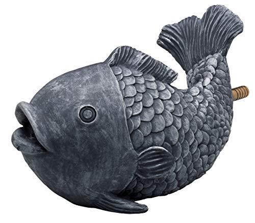 OASE 36777 Wasserspeier Fisch | Teichfigur | Dekoration | Wasserstrahl | Sauerstoff |