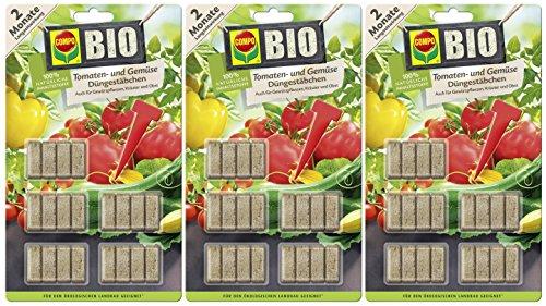 Compo Bio Tomaten- und Gemüse Düngestäbchen und 2 Monate Langzeitwirkung, 60 Stück