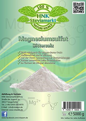 Bittersalz Magnesiumsulfat 5kg - natürliche Hilfe beim Fasten und Heilfasten - Abführmittel - Leberreinigung