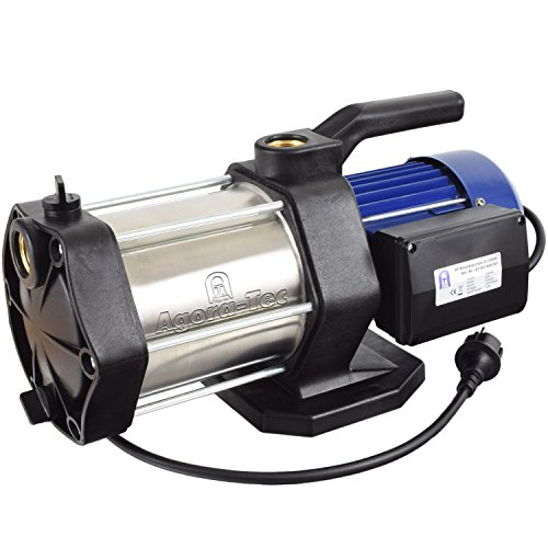 Agora-Tec AT-Kreiselpumpe-5-1300W, 5 stufige Kreiselpumpe mit max: 5,6 bar und max: 5400l/h