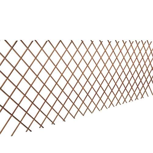 vidaXL 5X Rankgitter Kletterhilfe Ranksäule Spalier Rankhilfe 90x180cm Weide Spalier Rankhilfe Gitter Pflanzengitter witterungsbeständig, wetterfest, Holz