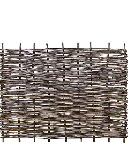 Weidenprofi Sichtschutz, Robinienzaun Modell Stabil, Flechtzaun aus Robinie, Größe (BxH): 180 x 120 cm