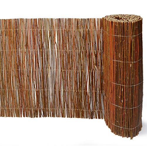 Weidenprofi Weidenmatte, Sichtschutz aus Weide, Verkleidung Rollzaun (BXH) 300 x 50 cm