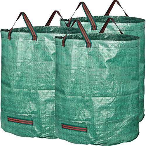 GardenMate 3x Gartensack 272l aus robustem Polypropylen-Gewebe (PP) 150gsm