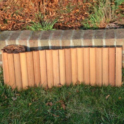 ROG garden-line 180 x 30 cm : BANGKIRAI ROLLBOARDER HARTHOLZ BEETUMRANDUNG RASENKANTE = 11,64 EUR/m